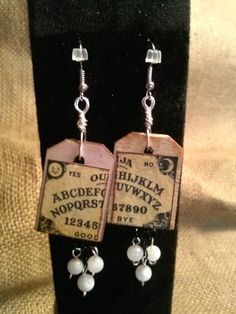 OUIJA Board earrings with Rainbow Moonstones by SophiasEarth on Etsy  FREE SHIPPING to the 48 states