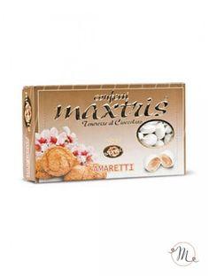 Confetti Maxtris Amaretto. Questi confetti Maxtris Mamaretto hanno al loro interno una mandorla tostata avvolta da uno strato di cioccolato al gusto di amaretto, ricoperta da un sottile strato di zucchero. Confezione da 1kg. Colore: bianco. Noi di Martha's Cottage siamo rivenditori autorizzati Maxtris. #confettata #confetti #matrimonio #weddingday #ricevimento #maxtris #wedding #sconti