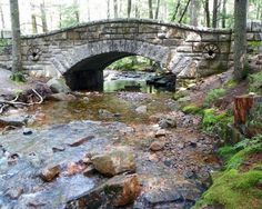"""Acadia Carriage Bridges, ME . . . Carriage Bridges in Acadia Park to keep """"Cars"""" out per instructions by Rockefeller"""