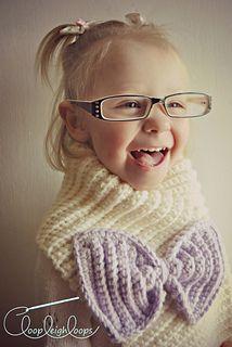 Bowtie scarf crochet pattern!!  So cute!
