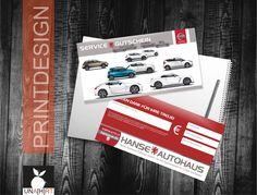 Service-Gutschein, Printdesign