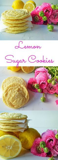 Sweet Lemon Sugar Cookies by Modern Honey. Soft and chewy with crispy outsides. It's the perfect lemon cookie for lemon lovers!