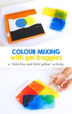 Colour Mixing With Gel Baggies {an activity inspired by 'Little Blue and Little Yellow'} | Mama.Papa.Bubba.
