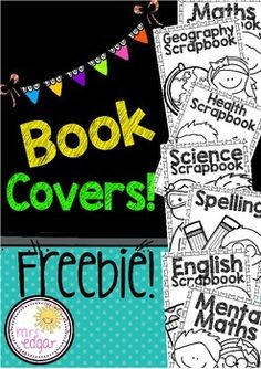 Book Covers:This pack contains book covers for the following subjects:- Maths/Math (Aus/UK and USA spelling) book cover- Mental Maths book cover (Aus/UK and USA spelling)- English book cover- Spelling book cover- Science book cover- Health book cover- History book cover-Geography book coverTwo sets - one set contains the word 'scrapbook' and the other, 'notebook'Hope you find it helpful!