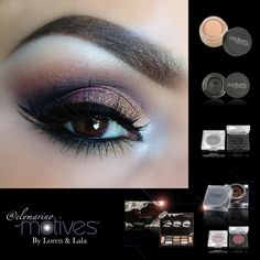Get the look #motivescosmetics #elymarino Apply Plum in the crease Blend out with Chocolate Apply Onyx in outer corner and slightly on the outer half of the lid, followed by applying Fab in the inner tear duct Apply Gold eyeshadow on the first half of the lid then Sweet Plum eyeshadow on the 2nd half. Dab 24k Gem duct over the first half of the lid for some sparkle✨✨ Add your Liner (Little Black Dress gel liner) and for an accent liner use Butterscotch shadow right between double winged…