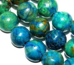 4mm Blue Chrysocolla Round Gemstone Loose Beads 15