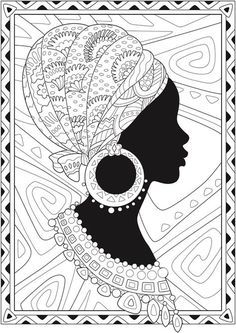 African American Coloring Books Luxury Creative Haven African Glamour Coloring Book Dover Publications African Drawings, African Art Paintings, Mandala Art, Arte Tribal, Tribal Art, Publicaciones Dover, Buch Design, Design Art, Doodle Art