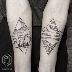 23 Modern Tattoos by Female Artist Bicem Sinik #blackwork #geometric