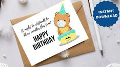 Funny Happy Birthday Greetings, Belated Birthday Card, Late Birthday, Rude Birthday Cards, Birthday Gifts For Best Friend, Friend Birthday, Birthday Wishes, Homemade Cards For Men, Homemade Birthday Cards