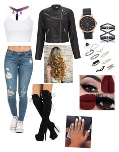 """""""Black mystery"""" by olghetta30 on Polyvore featuring Topshop, Marc Jacobs, Eva Fehren and Lipsy"""