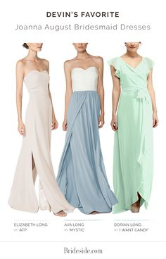 Looking for the perfect bridesmaid dress? Our stylist Devin shares her favorite Joanna August bridesmaid dresses. Shop Joanna August bridesmaid dresses on brideside.com