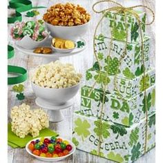 St Patrick's Day Snacks and Sweets Gift Tower St Patrick Day Snacks, St Patricks Day, Tower, Sweets, Gifts, Rook, Presents, Computer Case