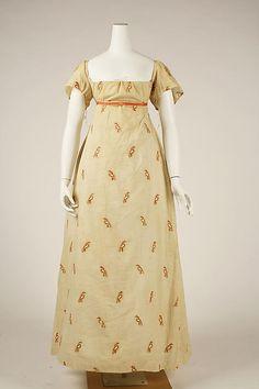 American Cotton Dress, circa 1810