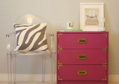 from Ikea hackers. dresser costs $35 plus paint and hardware. Amazing!!!  Ikea Rast Turned Campaign Chest