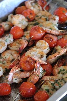 Grilled Jumbo Gulf Shrimp With Tomatoes