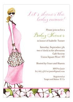 Fashionable Mom Pink - Blonde Invitation from The Bonnie Marcus Collection