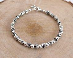 Balinese Sterling Silver Beaded Bracelet by LindseySilberman