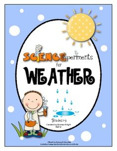 8 Weather Experiments: Fun, hands-on science investigations about clouds, rain… Weather Experiments, Weather Science, Weather Unit, Science Experiments Kids, Science Fair, Science Lessons, Science For Kids, Science Projects, Science Ideas