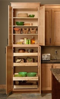I NEED a pantry cabinet with pull out shelves!!