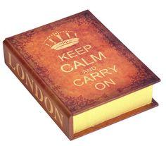 Set Caixas Livros Organizadoras Keep Calm 2 PCS