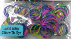 Loom+Rubber+Bands+glitter+for+Rainbow+Loom+by+AttisTreasures,+$5.45 Fun Loom, Loom Bands, Rainbow Loom, Rubber Bands, Loom Beading, Latex Free, Craft Items, Pastel Colors, Picture Show