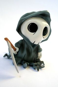 Mr Death - Art Toy This artist has a ton of cool toys on his page! Toy Art, 3d Figures, Vinyl Figures, Action Figures, Character Design Cartoon, Character Art, Vinyl Toys, Vinyl Art, Modelos Low Poly