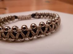 Brown Leather with natural hemp and silver beads  http://www.etsy.com/listing/90243704/unisex-brown-leather-and-natural-hemp