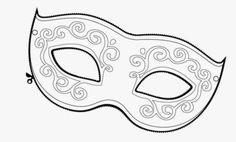 máscaras de carnaval para colorir clássica