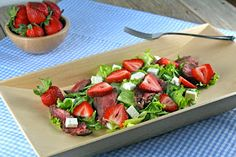 Steak, strawberry, & feta salad