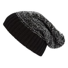 Tarnish Knit Beanie Black Combo One Size ($17) ❤ liked on Polyvore featuring accessories, hats, beanies, headwear, knit beanie hats, beanie hats, saggy beanie, slouchy beanie hat and knit slouchy beanie