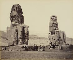 The Colossi on the Plain of Thebes (The Colossi of Memnon) by Francis Bedford, 1862. See the Exposure column at Design Observer. http://designobserver.com/feature/exposure-the-colossi-of-memnon-by-francis-bedford/38763/