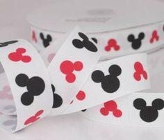 Mickey Mouse kopjes | Kinderlint / Band 22 mm  www.denaaimand.nl