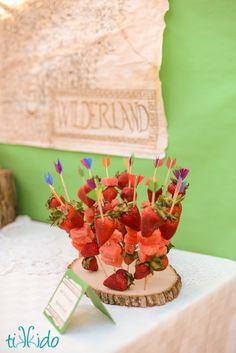 Party Food Idea- Skewered Fruit Arrows: perfect for other parties, too like Hunger Games, Brave etc.