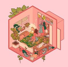 lanajay_art - Finally got a chance to play with the isometric grids on Procreate! ✨✨ so fun! I wanna make some more lil grid things haha 🌿🌿✨ Isometric Grid, Isometric Drawing, Isometric Design, Aesthetic Drawing, Aesthetic Art, Art And Illustration, Kawaii Drawings, Cute Drawings, Pretty Art