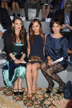 @ the s/s 2014 Marc Jacobs show on the sideline - look at the lace leggings