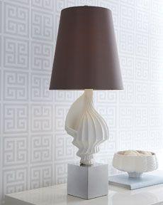 H674B Jonathan Adler White Shell Lamp