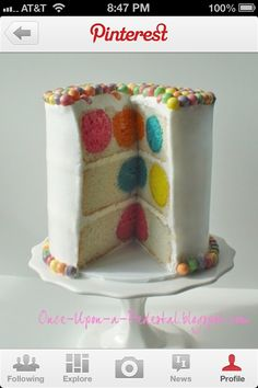 To Make A Polka Dot Birthday Cake DIY Polka Dot Birthday Cake! - surprisingly easy and ppl find it very impressiveDIY Polka Dot Birthday Cake! - surprisingly easy and ppl find it very impressive Beautiful Cakes, Amazing Cakes, Cake Cookies, Cupcake Cakes, Surprise Inside Cake, Polka Dot Cakes, Polka Dots, Cake Recipes, Dessert Recipes