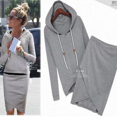 2014 autumn-summer women casual dress suit baseball sweatshirt tracksuits pullovers hoodies sportswear clothing set lululemon $24.00
