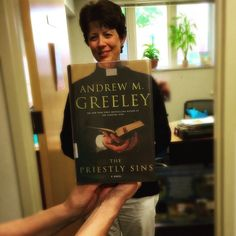 Deb is joining the priesthood for today's #bookface