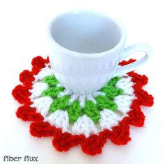 Fiber Flux...Adventures in Stitching: Free Crochet Pattern...Merry Berry Coasters!