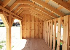 Order this traditional 20 x 8 ft post & beam saltbox style shed from Jamiaca Cottage Shop. With 960 cubic ft of usable space & holds 7 cords of stacked wood. Wood Storage Sheds, Garden Storage Shed, Wooden Sheds, Shed Building Plans, Diy Shed Plans, Storage Shed Plans, Barn Plans, Wood Shed Kits, Shed Blueprints