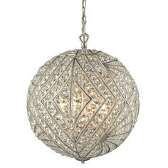 "View the Elk Lighting 16240/8 8 Light 17"" Wide Globe Pendant at…"