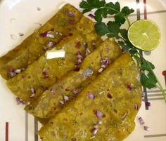 Instant Easy Healthy Avacado Paratha | Guacamole Paratha For recipe, visit  https://arusuvaiarangetram.wordpress.com/2017/07/02/instant-and-easy-avacado-parathain-englishavacado-chappathiguacamole-paratha/