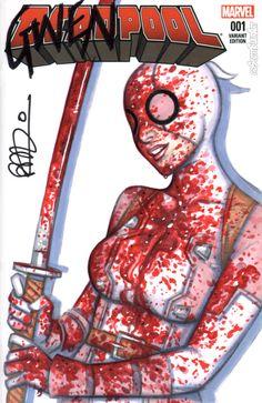GwenPool Bloody sketch Variant - Scott Blair
