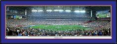 New York Giants print Super Bowl XLII panoramic Photograph New York Giants vs. New England Patriots