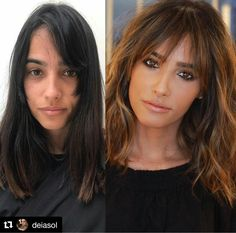 Mind Blowing Hair Transformation Before & After Photos - Gallery OMG-Worthy Transformations - Behind Hair Color Auburn, Auburn Hair, Pretty Hairstyles, Easy Hairstyles, Hairstyles For Long Faces, Oblong Face Hairstyles, Medium Hairstyles With Bangs, Large Forehead Hairstyles, Full Fringe Hairstyles