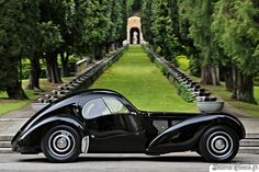 Bugatti T57SC Atlantic. One of 4 ever built. Owned by Ralph Lauren 57591 008 aka The Pope Car
