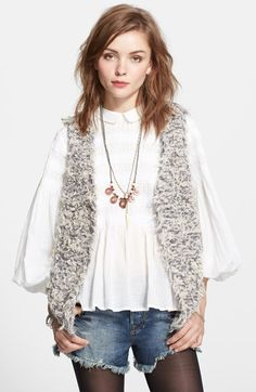 Free People 'Furaway' Textured Vest available at #Nordstrom