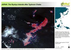 DMCii-Map of the Ryukyu Islands of Japan after Typhoon Chaba All Band, Naha, Okinawa, Constellations, Islands, Image, Star Constellations