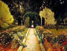Santiago Rusiñol i Prats (Barcelona, 25 de febrero 1861 - Aranjuez, donde falleció mientras pintaba sus famosos jardines,13 de junio de 1931),